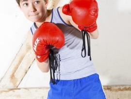 young boy as a boxer